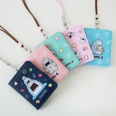 사메즈 스키니 월렛 [목걸이지갑/넥카드케이스/카드지갑/반지갑] Peach