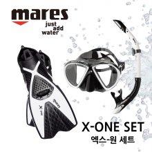 MARES X-ONE 마레스 엑스원 세트 M/L 블랙/화이트