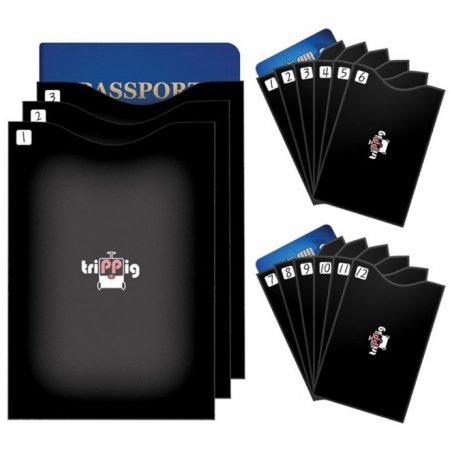 피트래블 트리피그 RFID차단 여권 카드 슬리브 15개 세트 FREE