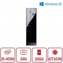100대 한정 4세대 코어i5 블랙슬림 게이밍 데스크탑 [16G/SSD256G/GT1030]-리퍼