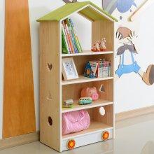 유아동책장 키즈수납장 지붕형교구장 책꽂이 (CJ028)