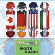 월드팩 스케이트보드 단풍나무 ABEC-7 31 고품질 _월드팩_미국