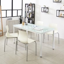 K34 테이블 1200세트 사무실테이블 스틸책상 철제식탁 프레임_블랙(K34-812)/상판_아카시아:의자_체크_그린_4개