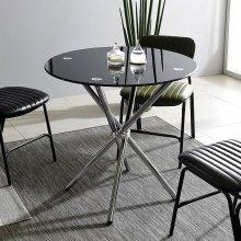 K36 원형테이블 800세트 회의실 카페 베란다 티테이블 프레임_투명(K36):의자_체크_그린_4개