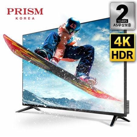 109cm 4K HDR TV RGB패널 2년무상보증 / PTI430UD [스탠드 자가설치]