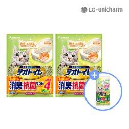 데오토일렛 소취 항균 모래 4Lx2+추가증정 패드4P