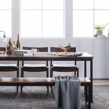 루킹 멀바우원목 6인식탁세트(의자/벤치)