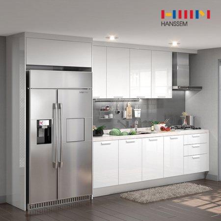 EURO 9000 리치스페셜(ㅡ자/냉장고장형/3.2m초과~3.6m이하) 상/하-리치펄화이트