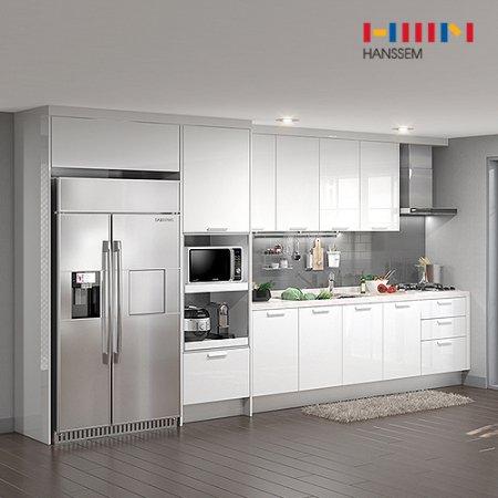 EURO 9000 리치스페셜(ㅡ자/키큰장+냉장고장형/3.8m초과~4.2m이하) 상/하-리치펄화이트