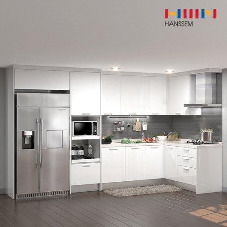 EURO 9000 리치스페셜(ㄱ자/키큰장+냉장고장형/5.3m초과~5.9m이하) 상/하-리치펄화이트