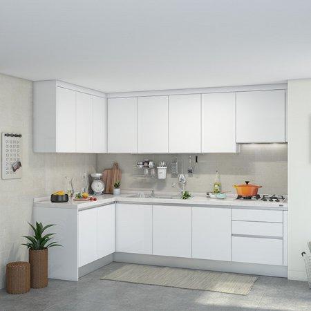 [냉장고장증정]EURO 9000 프리모화이트(ㄱ자/기본형/3.7m초과~4.3m이하)