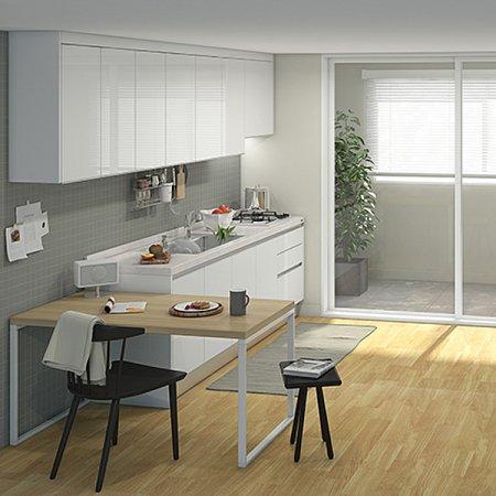 [냉장고장증정]EURO 9000 프리모화이트(ㄱ자/식탁형/2.9m초과~3.3m이하)
