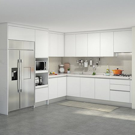 EURO 9000 프리모화이트(ㄱ자/키큰장+냉장고장형/6.3m초과~6.8m이하)