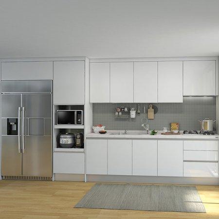 EURO 9000 프리모화이트(ㅡ자/키큰장+냉장고장형/~3.3m이하)