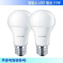 LED 11W 주광색(형광등색) 2개입