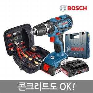 [견적가능]보쉬18V충전전동드릴세트_GSB18-2-LI Plus(2B)_PRO2패키지(드릴+고급수공구가방)