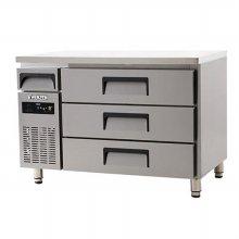 간냉 높은 서랍식테이블 1200 12DIE3-D (자가설치 배송상품)