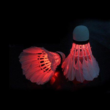런웨이브 야광 LED 셔틀콕 깃털 2P 야간 배드민턴공