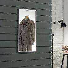 라디앙 알루미늄 사각 벽걸이거울 400x800 실버