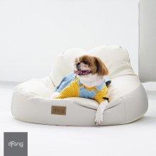 펫플레이빈백 - 라이트그레이 M 강아지방석