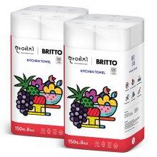 (무료배송) 브리토 키친타올 150매 8롤 2팩