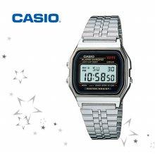 카시오 A159WA-N1 남여공용 메탈밴드 손목시계