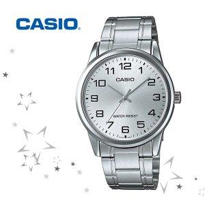 카시오 MTP-V001D-7B 남성 메탈밴드 손목시계
