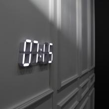 다이아몬드 화이트모던 LED 벽시계(전선길이 3.3m)