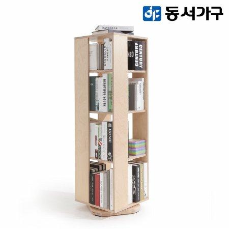 킨디 4단 자작원목 회전책장 DF910617
