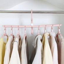 공간절약 다용도 회전 접이식 옷걸이 매직행거(Pink)