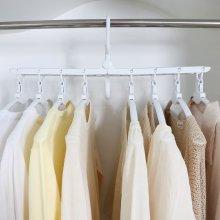 공간절약 다용도 회전 접이식 옷걸이 매직행거(White)