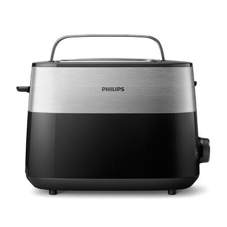 데일리 컬렉션 토스터기 HD-2517 (8가지 온도조절, 본체 내장 거치대, 자동 전원차단)