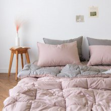 듀오 알러지케어 차렵이불 풀세트 싱글S (3colors) 핑크