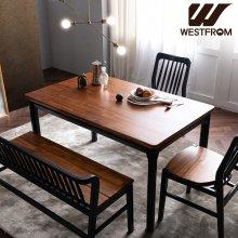 빈티지 핸슨) 원목 4인 식탁, 테이블 / (벤치, 의자제외) 브라운