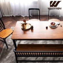 빈티지 핸슨) 원목 6인 식탁, 테이블 / (벤치, 의자제외) 브라운