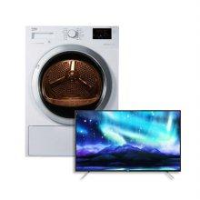 [베코] [건조기+TV] 10KG 화이트 건조기 DH10433RX0 [인버터모터/저온제습] + 40인치 FHD LED TV 40D2900 [스탠드형]