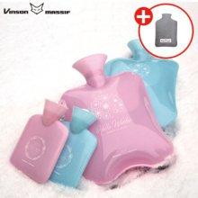 보온보냉 물주머니 세트(소)핑크 (물주머니 + 케이스)