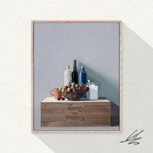 [한정판 미술작품] 와인상자 위의 정물 The Still Life On The Winebox