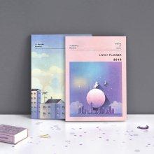 아이코닉 라이블리 플래너 2019 [날짜형/다이어리/먼슬리/월간/스케줄러/일러스트] Full moon