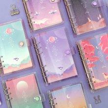 세컨드맨션 A6 6공 트윙클 문라잇 다이어리 만년형 [플래너/스케줄러/저널] 01 벚꽃