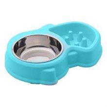 다람쥐 급체방지식기(블루) 애견식기 강아지밥그릇 W1B618F