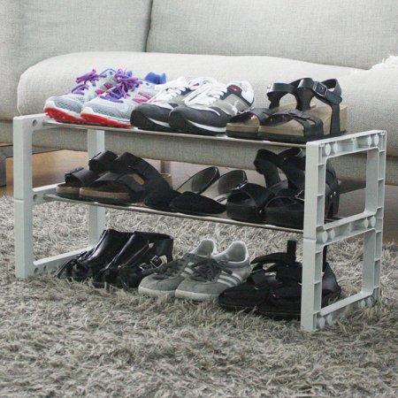 신발장신발정리대3단9족70Cm그레이