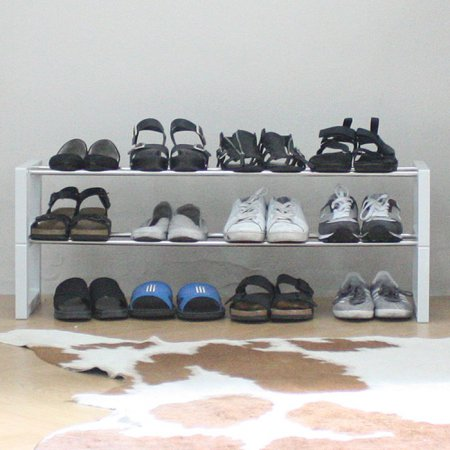 신발장신발정리대3단12족92Cm그레이