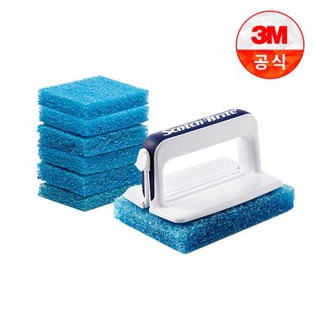 크린스틱 뉴올인원 욕실청소용 핸들+리필7입