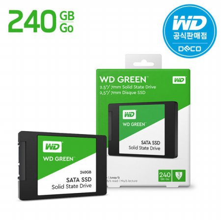 Green SSD 240GB 웨스턴디지털 컴퓨터하드