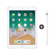 패키지 할인 / 9.7형 iPad 6세대 LTE 128GB 실버 MR732KH/A + 애플펜슬 1세대