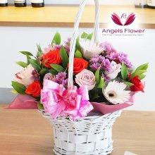 러브러브 일반형 꽃바구니 전국꽃배달