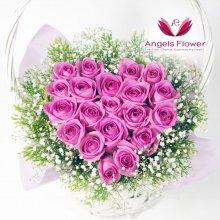 솔리드핑크하트 고급형꽃바구니 전국꽃배달