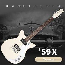 Danelectro 59X Electric Guitar - Cream