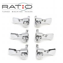 Graphtech Ratio - Electric Locking<br>그라프텍 락킹 헤드머신<br>3x3 Vintage Chrome (PRL-8341-C0)